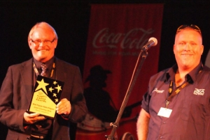 Dean MDean Mackin and Cameron Syrett accepting People's Choice Award in 2011