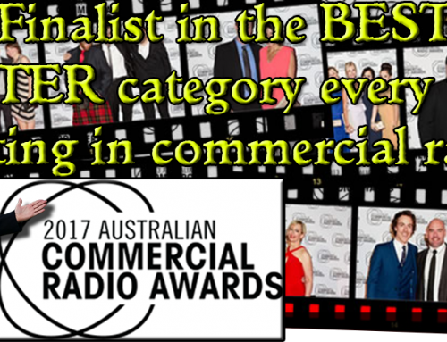 "Dean Mackin is an ACRA finalist in the ""BEST TALK PRESENTER"" category 3rd year running"